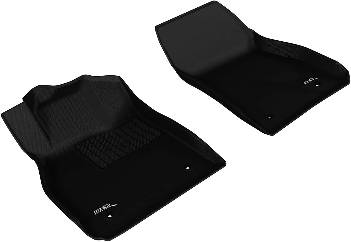 3D MAXpider Front Row Custom Fit All-Weather Floor Mat for Select Chevrolet Malibu Models L1CH06311509 Black Kagu Rubber