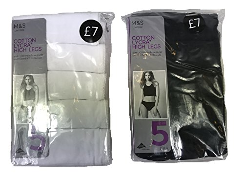 M/&S High Leg Knickers No VPL Pants Mid Rise Briefs Ex Marks /& Spencer 8-22