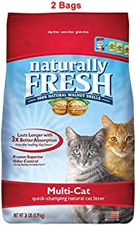product image for Naturally Fresh Walnut-Based Multi-Cat Quick-Clumping Cat Litter, Unscented, 26-lb Bag (Multi-Cat Unscented, 26 lb, 2 Bags)
