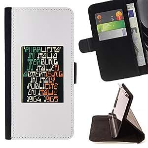 BullDog Case - FOR/Samsung Galaxy S4 Mini i9190 / - / PUBLICITY RETRO VINTAGE 1964 POSTER /- Monedero de cuero de la PU Llevar cubierta de la caja con el ID Credit Card Slots Flip funda de cuer