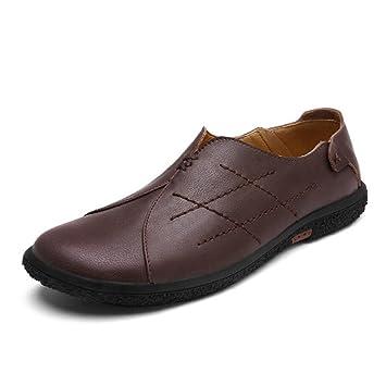 Zapatos de Hombre Mocasines Planos de Cuero Primavera/Otoño/Invierno Comodidad Zapatos de Cuero