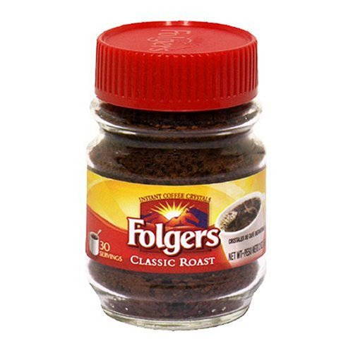 Folgers Classic Roast Instant Coffee, 2 Ounce Jars (Pack of 12) by Folgers
