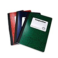 Bazic Composition Books, 9.75 X 7.5 Inches, 100 Sheets/200 Pages, 3 Pk, Assorted Colors