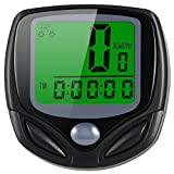 Sospers Bike Computer Waterproof, Wireless Speedometer Automatic Wake-up LCD Backlight Display, Bicycle Odometer Multi-function