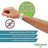 Natural Mosquito-Bite Repellent Bracelets – 4 pcs, 1 Month Pest Protection Per Bracelet - Non-Toxic with No Deet, Plant Based Geraniol Micro Encapsulation -Insect Control Repels Bugs –Effective & Safe