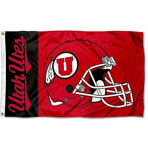 Utah Utes Large Football Helmet 3x5 College Flag
