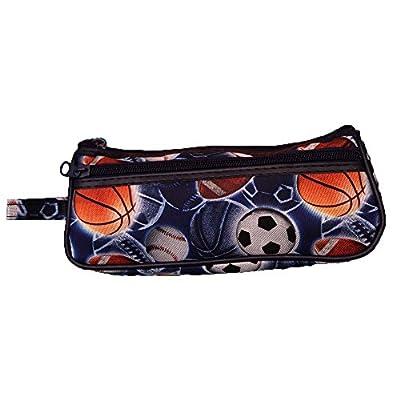 Sport Toiletry Travel Bag Case Black 2 Zipper Gift - Cosmetics, Jewelry, Accessories, Electronics