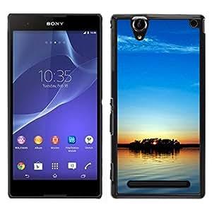 LECELL--Funda protectora / Cubierta / Piel For Sony Xperia T2 Ultra -- Cielo azul --
