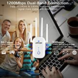 UPPOON 1200Mbps WiFi Extender Signal Booster for