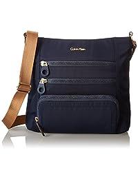 Calvin Klein Nylon Zip Messenger Bag