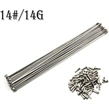 NiceDream68 10PCS 14G/14# 2mm Bike Bicycle Stainless Steel Silver Spoke Spokes Whit Copper Nipples 240~305 mm