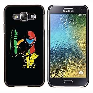 EJOOY---Cubierta de la caja de protección para la piel dura ** Samsung Galaxy E5 E500 ** --Metroid