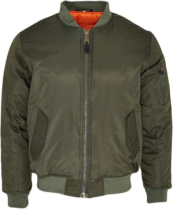 60s 70s Men's Jackets & Sweaters MA1 Black Flight Pilot Bomber Jacket - Free Post XS-3XL £39.99 AT vintagedancer.com
