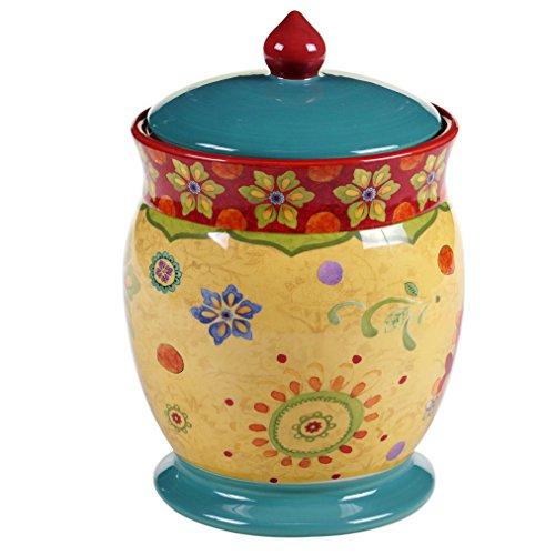 "Certified International 22464 Tunisian Sunset Biscuit Jar, 9.75"", Multicolor"