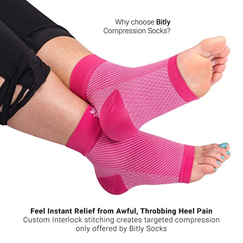 Bitly Plantar Fasciitis Socks (1 Pair) Premium Ankle Support foot Compression Sleeve (Large) by Bitly (Image #4)