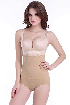907729c3ba Uniqus Meisou Women High Waist Shaper Panty Brief Body Shaper Tummy Control  Belt Underwear Shapewear Belly Girdle Slimming Panties Color Beige Size M   ...
