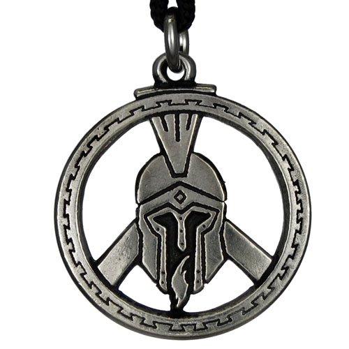 Helmet Pendant (Pewter Warrior's Spartan Helmet Pendant for Protection in Battle)