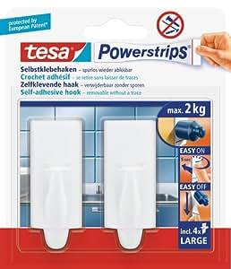 Tesa 58045-00000-01 - Perchas auto adhesiva (2 unidades)