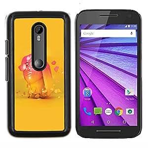 All Phone Most Case / Oferta Especial Duro Teléfono Inteligente PC Cáscara Funda Cubierta de proteccion Caso / Hard Case Motorola Moto G3 3rd Gen // Neon Pink Head