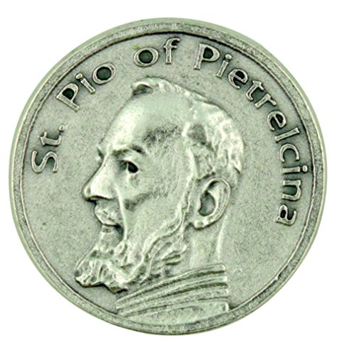 Patron Saint St Padre Pio of Pietrelcina Pocket Token with Prayer (Padre Pio Patron Saint)