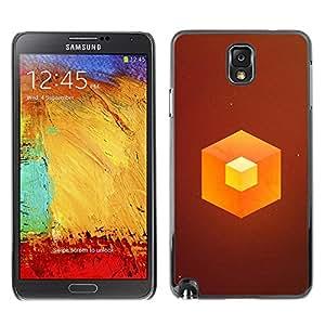 EJOY---Cubierta de la caja de protección la piel dura para el / Samsung Note 3 N9000 / --Naranja Cube