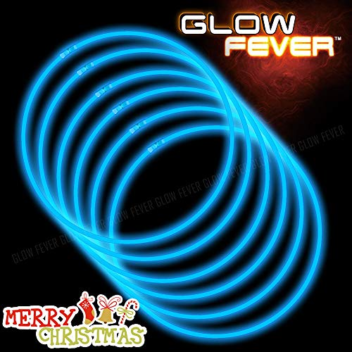 Blue Glow Sticks Bulk 50ct 22inches Necklaces (22