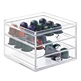 mDesign Nespresso Coffee Pod Holder for Kitchen Pantry, Countertops - Holds 48 Capsules, Clear