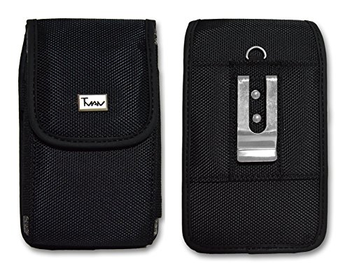 Juno Canvas (Vertical Heavy Duty Strong with Metal Clip and Velcro Canvas Closure Case For Verykool Juno Quatro s5511)