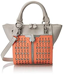 Danielle Nicole Alexa Mini Cross Body Bag, Salmon/Grey, One Size