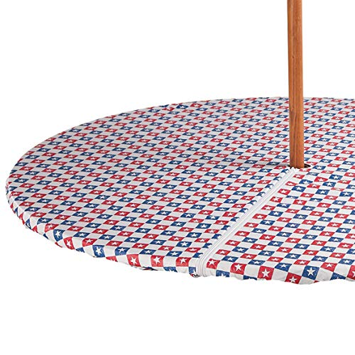 (Miles Kimball American Stars Zippered Elasticized Umbrella Table Cover)