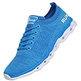 JARLIF Women's Lightweight Fashion Walking Sneakers Athletic Tennis Running Shoes (8.5 B(M), Blue)