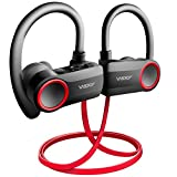 Wsky V4.2 Bluetooth Earphone Sport Wireless Headphone, 2019 Upgrade Headset 11 Hrs Playtime Fast Pairing Sweatproof Stereo Earbuds Best for Gym Jogging Hiking Traveling