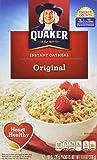 quaker oatmeal container - Quaker Oats Foods Instant Oatmeal - Original - Packet - 11.80 oz - 12 / Box