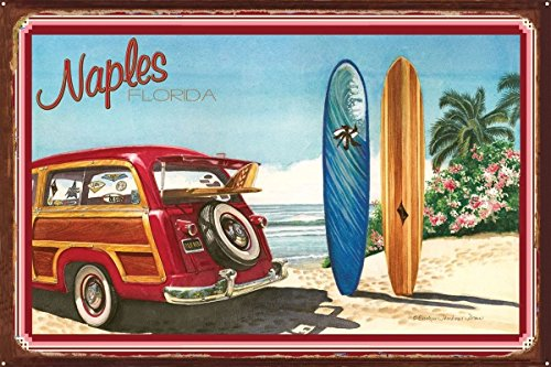Naples FL Rustic Metal Art Print by Evelyn Jenkins Drew (24
