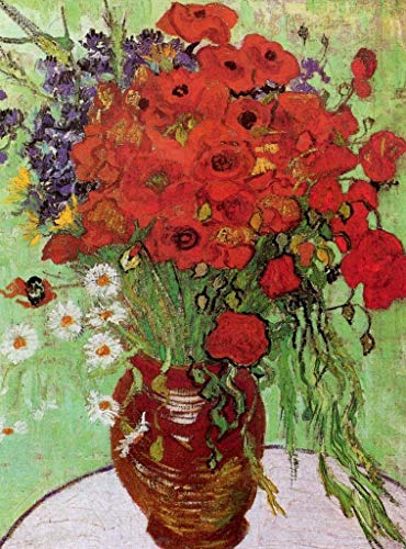 - Wooden Jigsaw Puzzle - Vase with Red Poppies and Daisies, 1890 by Vincent Van Gogh - 120 Unique Wooden Pieces - Made in The USA by Nautilus Puzzles - Challenge Any Puzzle Lover