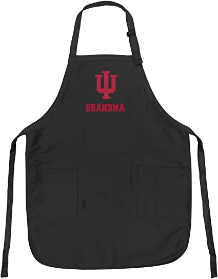 Indiana University Grandma Aprons IU Grandma w//Pockets Grilling Gift Her
