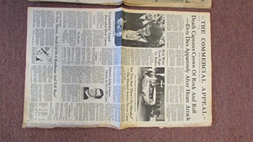 (ELVIS PRESLEY THE KING IS DEAD August 17, 1977 Vintage Memphis Newspaper)