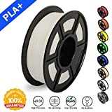 3D Printer Filament PLA Plus White(More Like Ivory),PLA Plus Filament 1.75 mm SUNLU,Low Odor Dimensional Accuracy +/- 0.02 mm,2.2 lbs (1KG) Spool for 3D Printers & 3D Pens,White(More Like Ivory)