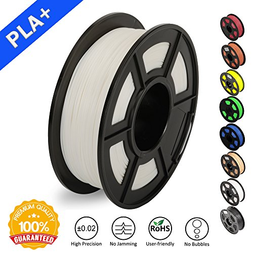 3D Printer Filament PLA Plus White(More Like Ivory),PLA Plus Filament 1.75 mm SUNLU,Low Odor Dimensional Accuracy +/- 0.02 mm,2.2 lbs (1KG) Spool for 3D Printers & 3D Pens,White(More Like Ivory) by SUNLU