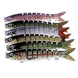Isafish Swimbaits For Bass Crankbait Bionic Multi Jointed 8 Segment Pike Fishing Lures