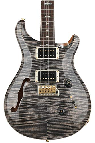 PRS Wood Library Custom 24 Semi-hollow - Charcoal, Pattern Regular Neck -