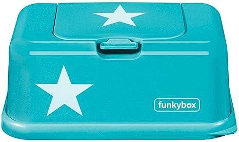 Funkybox - Caja Porta Toallitas Húmedas (Aqua Star): Amazon.es: Bebé