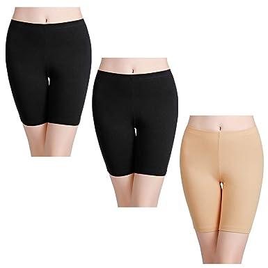 wirarpa Bragas Mujer Leggings Cortos Boxer Algodon Shorts Pantalones Deportivas para Running, Yoga y Ejercicio