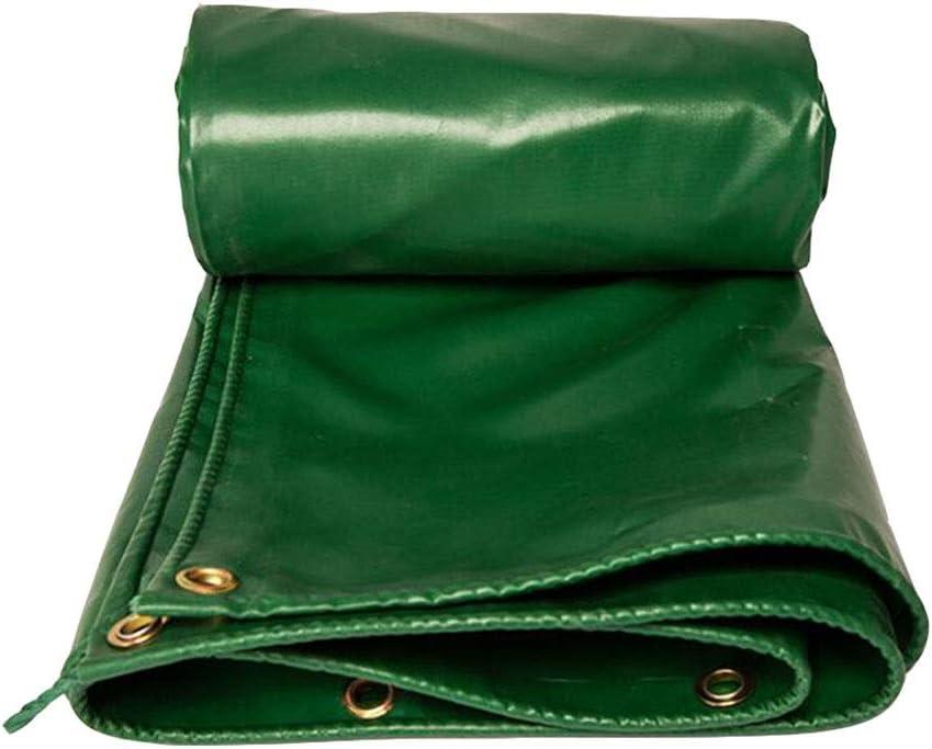 DALL ターポリン 540g /㎡ ヘビーデューティ 雨の布 厚くする 防水 アウトドア トラック スイミングプール 保護カバー (Color : 緑, Size : 5×10m) 緑 5×10m