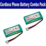 GE 2-8214 Cordless Phone Battery Combo-Pack includes: 2 x BATT-6010 Batteries, Office Central