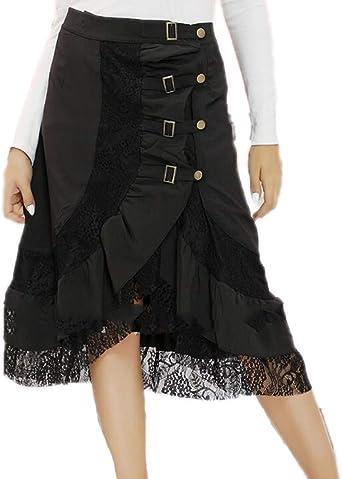 Falda Punky gótica Oscura para Mujer Falda Corta de Halloween con ...