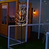 Excelvan 1.8 Meter/6 Foot 200LED Cherry Blossom Tree Light Warm White Light Black Branches Perfect for Home Festival Party Wedding Indoor Outdoor Decoration