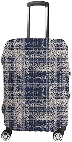 スーツケースカバー 抽象的なチェック 伸縮素材 キャリーバッグ お荷物カバ 保護 傷や汚れから守る ジッパー 水洗える 旅行 出張 S/M/L/XLサイズ