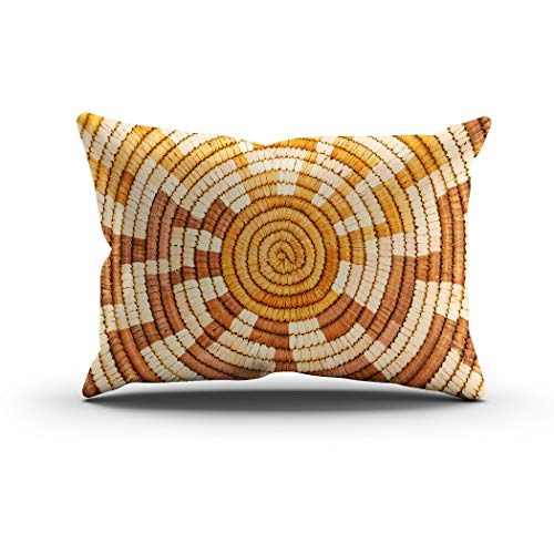 Sgvsdg Throw Pillow Cover Colorful Native American Woven Background Pattern Rectangle Hidden Zipper Home Sofa Living Room Cushion Decorative Pillowcase 12 x 24 Inch