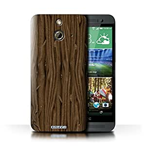 KOBALT? Protective Hard Back Phone Case / Cover for HTC One/1 E8 | Flake Design | Chocolate Collection